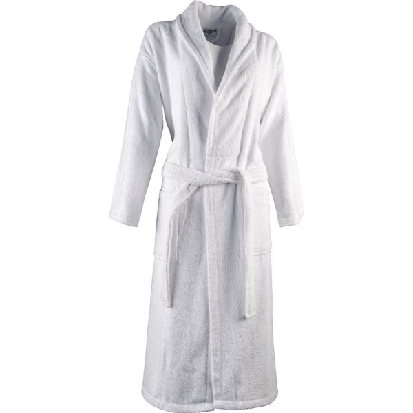 Luxury 100% Light-Weight Shawl Collar 100% Turkish Cotton Bathrobe by Lunasidus